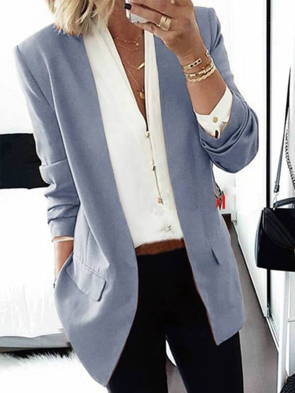Solid Color Casual Suit