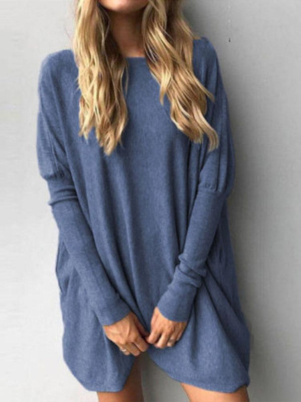 Casual Long Sleeve Shift Tops