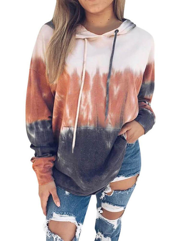 Long Sleeve Printed Drawstring Hoodies