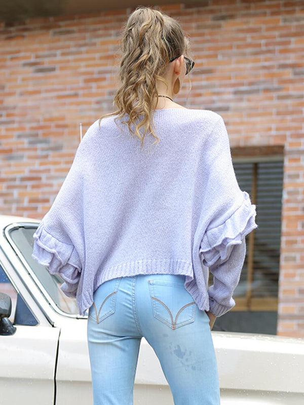 Sweet Beading Long Sleeve Sweater