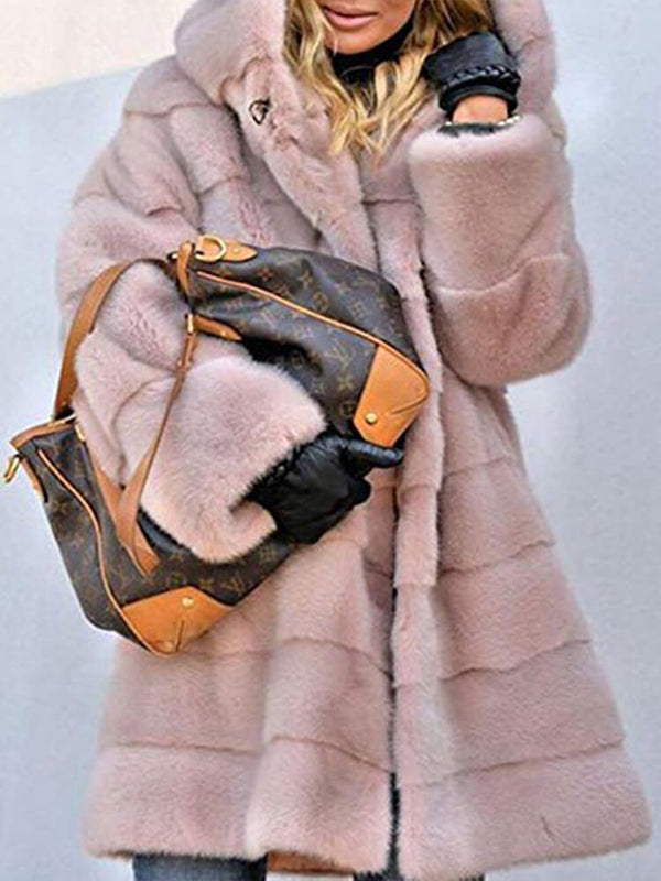 Women's Winter Hooded Faux Fur Coats
