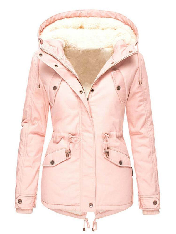 Women's Drawstring Hooded Coat