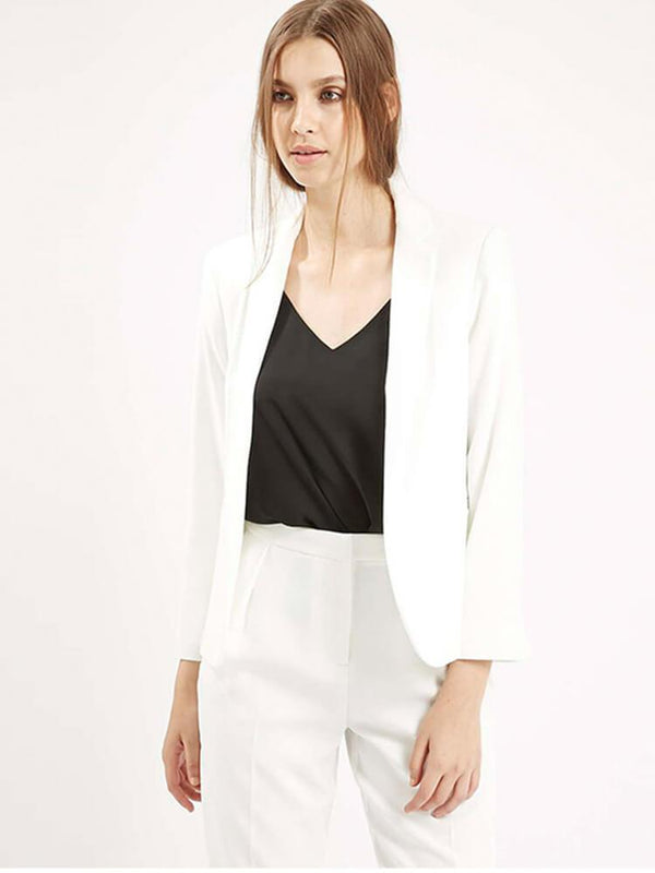 7 Colors Sheath 3/4 Sleeve Work Blazers