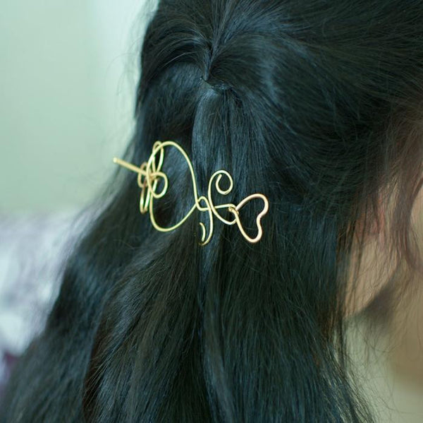 Women Simple Metal Bob Hair Accessories