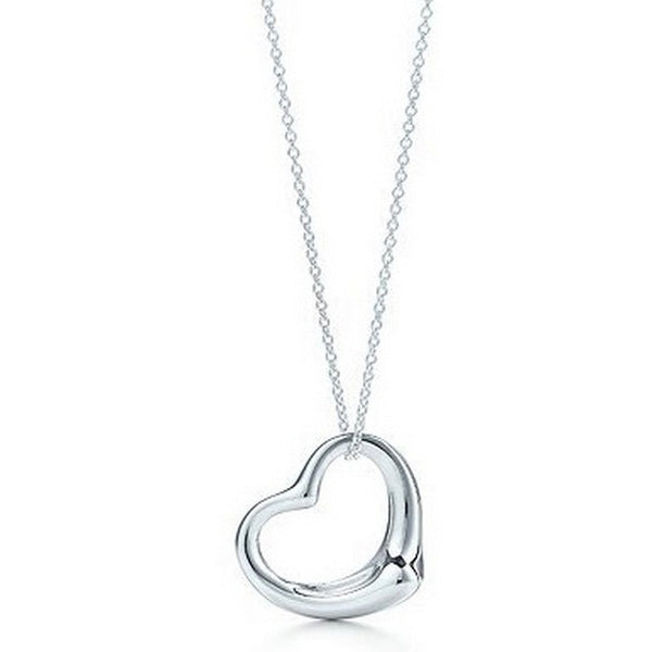 Jewelry Necklace Silver Plated Peach Heart Pendant