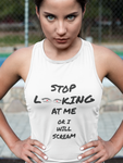 Stop Looking Women's Racerback Tank
