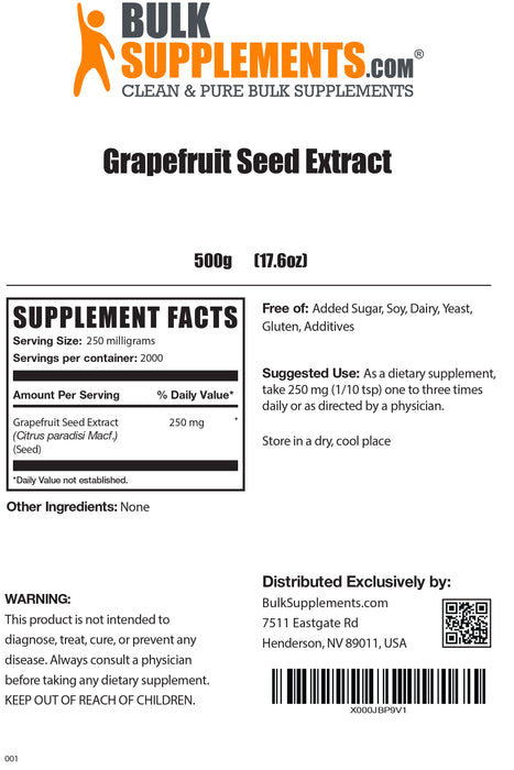 Grapefruit Seed Extract (GSE)