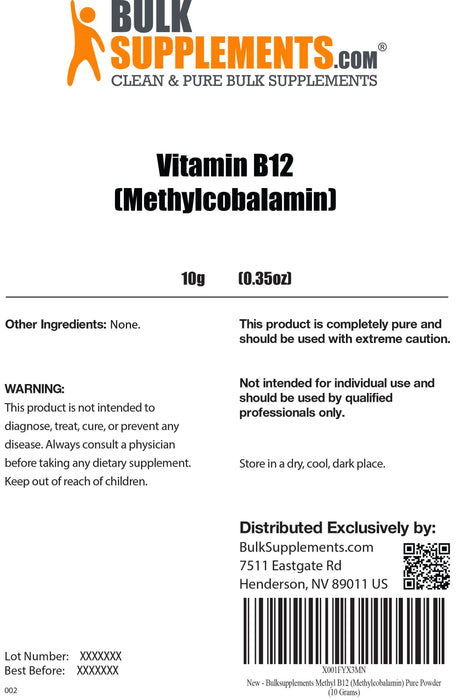 Vitamin B12 (Pure Methylcobalamin)