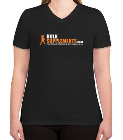 BulkSupplements.com Ladies V Neck Performance Shirt (Black)-BulkSupplements.com