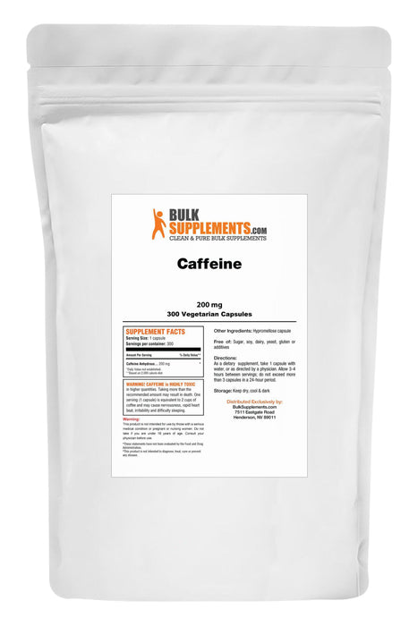 Caffeine (Synthetic) Capsules-BulkSupplements.com