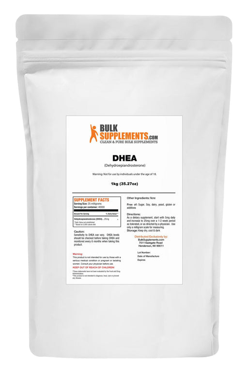 DHEA (Dehydroepiandrosterone) Powder-BulkSupplements.com