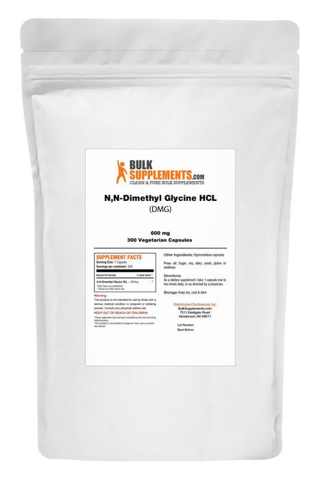 N,N-Dimethyl Glycine HCL (DMG)-BulkSupplements.com