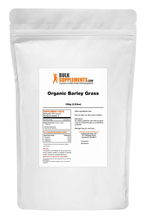 Organic Barley Grass Powder-BulkSupplements.com