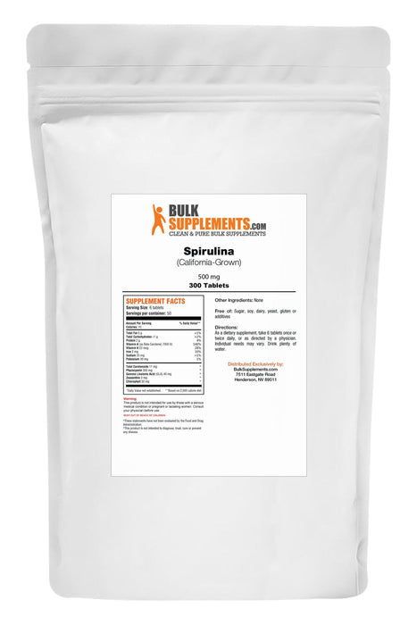 Spirulina (California-Grown) Tablets-BulkSupplements.com