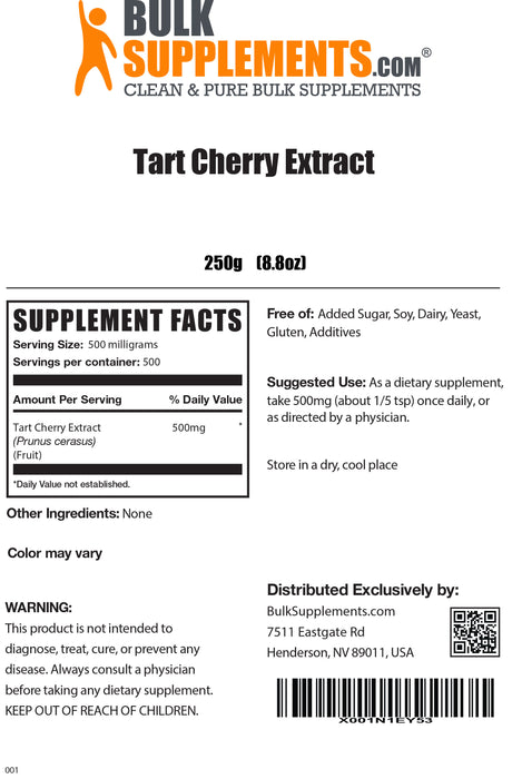 Tart Cherry Extract
