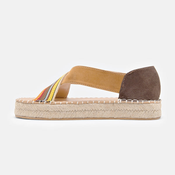 Bohemian Slip-On Straw Platform Sandals Women