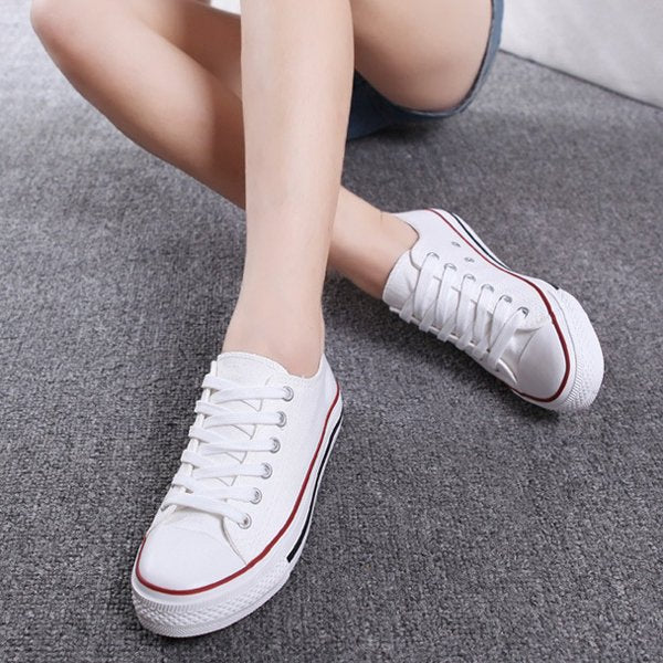 Lace-Up Canvas Round Toe Women Fashion Sneakers