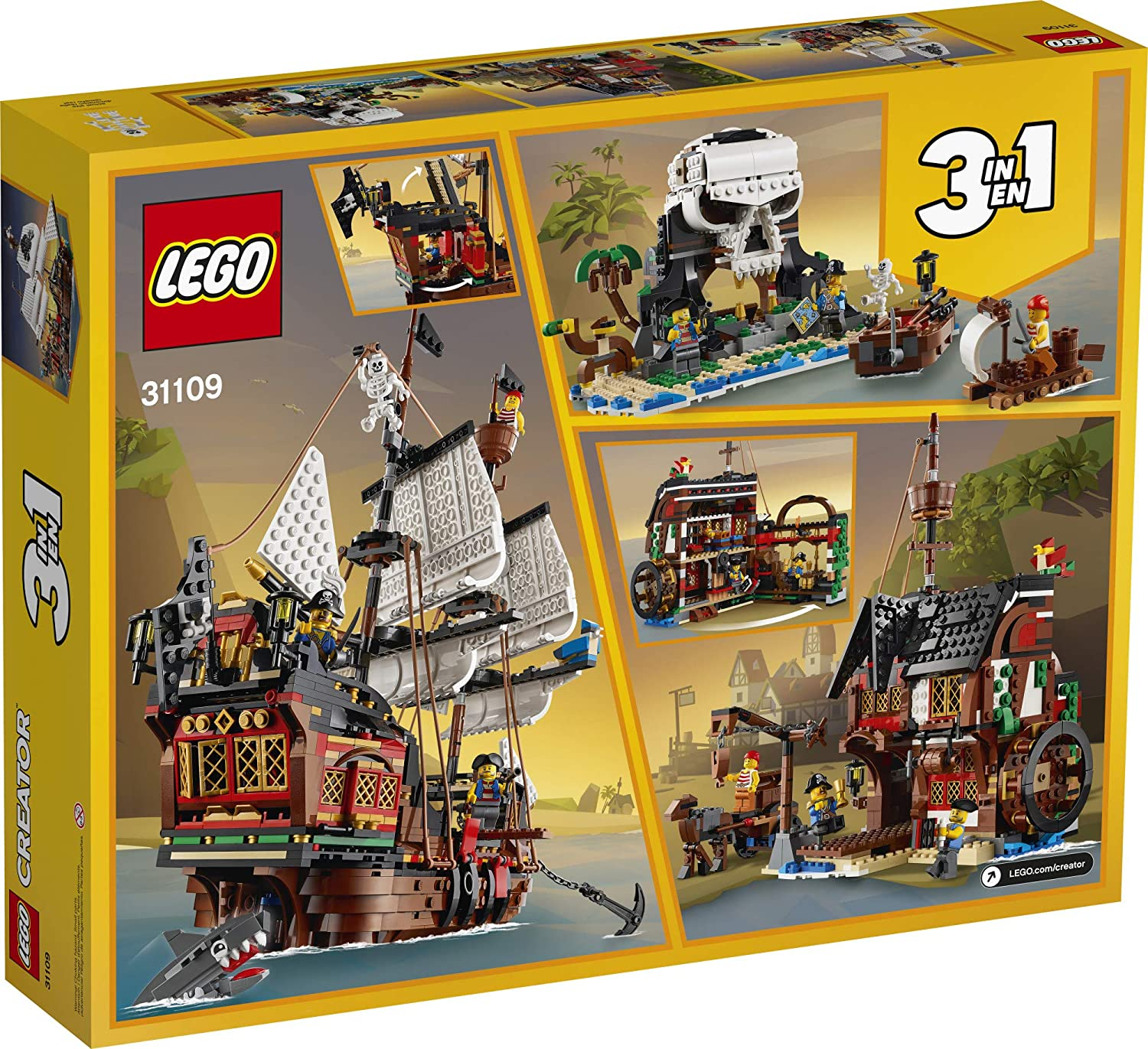 LEGO Creator 3in1 Pirate Ship 31109, New 2020 (1,260 Pieces)