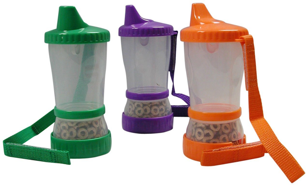 Mommys Helper Sip-N-Snak Non-Spill Cup and Snack Container, Colors May Vary