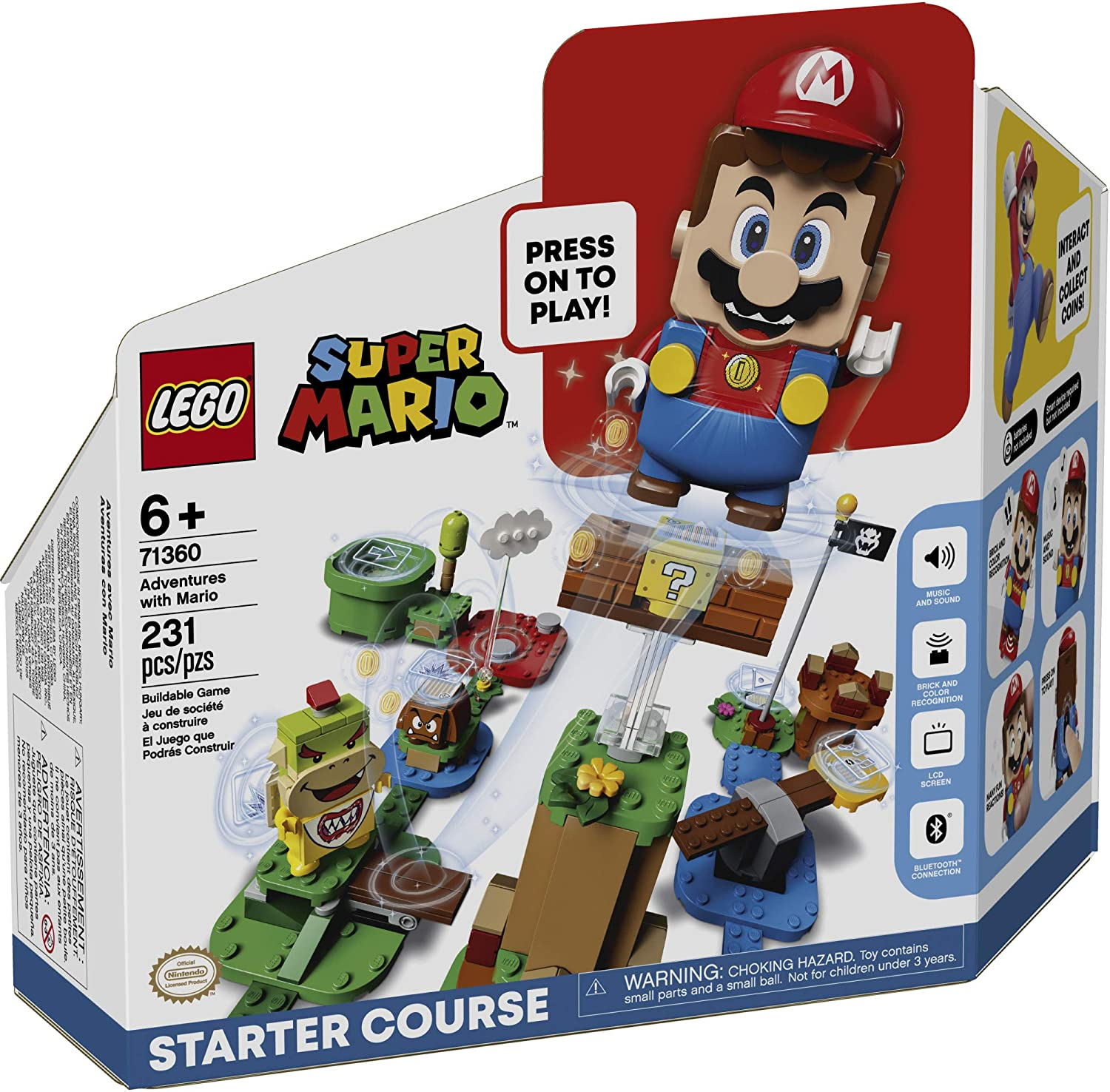 LEGO Super Mario Adventures with Mario Starter Course 71360 Building Kit, New 2020 (231 Pieces)