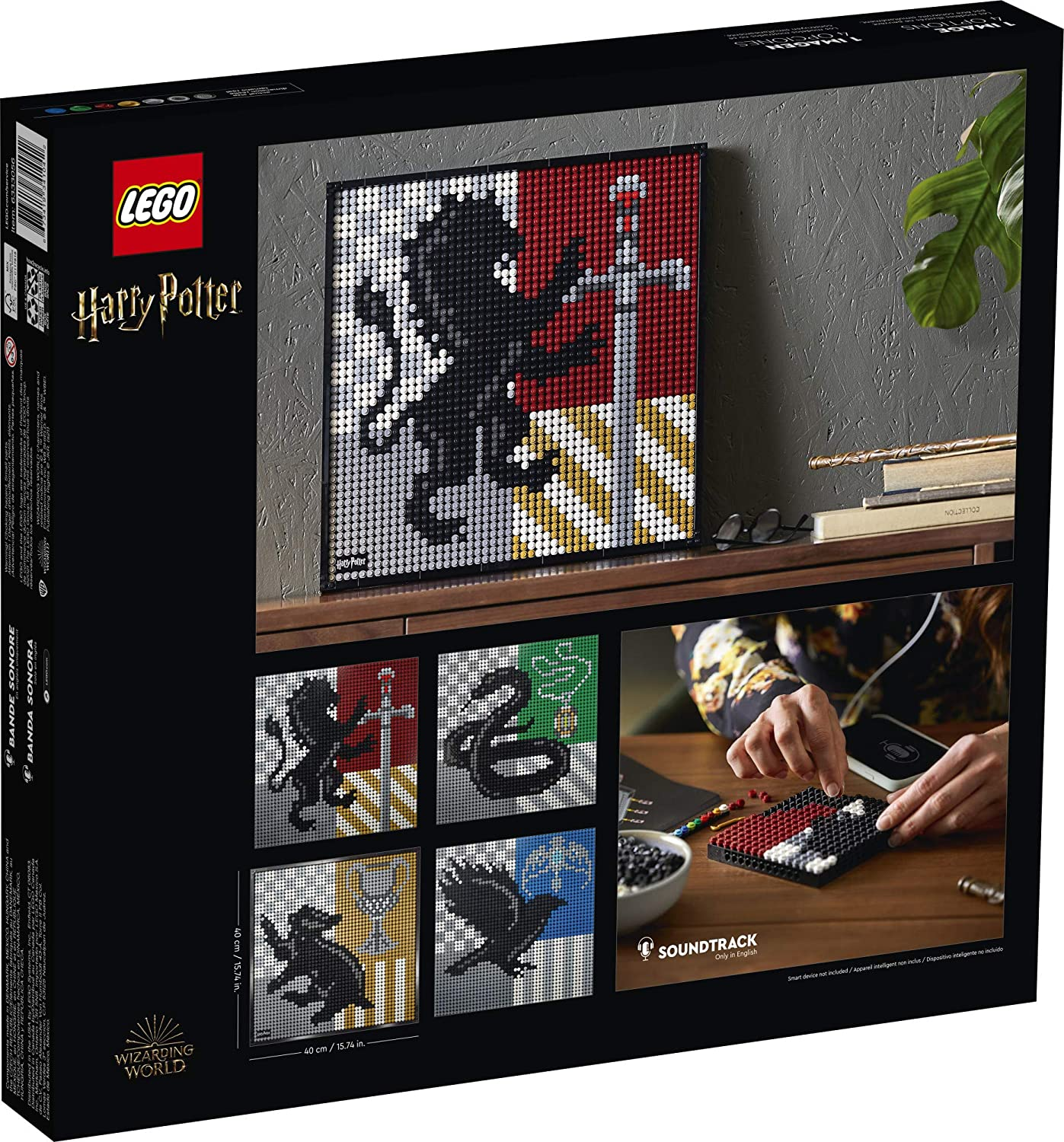 LEGO Art 31201 Harry Potter™ Hogwarts™ Crests, New 2021 (4249 Pieces)