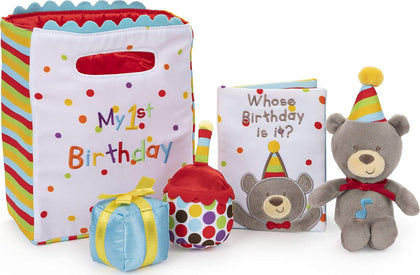 Baby GUND My First Birthday Stuffed Plush Playset, 5 Pieces, 8