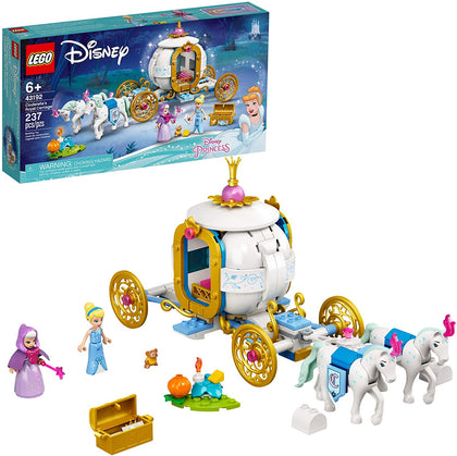 LEGO Disney Cinderella's Royal Carriage, New 2021 (237 Pieces)