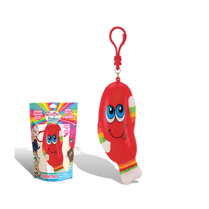 Whiffer Squishers 'Jay Bean' Slow Rising Squishy Toy Jelly Bean Scented Backpack Clip