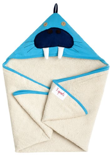 3 Sprouts Hooded Towel, Walrus
