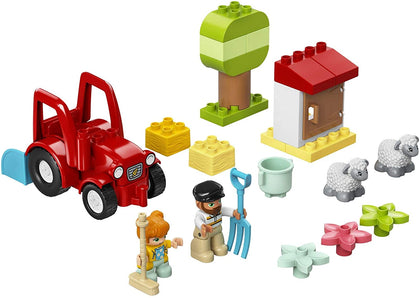 LEGO DUPLO Town Farm Tractor & Animal Care 10950, New 2021 (27 Pieces)