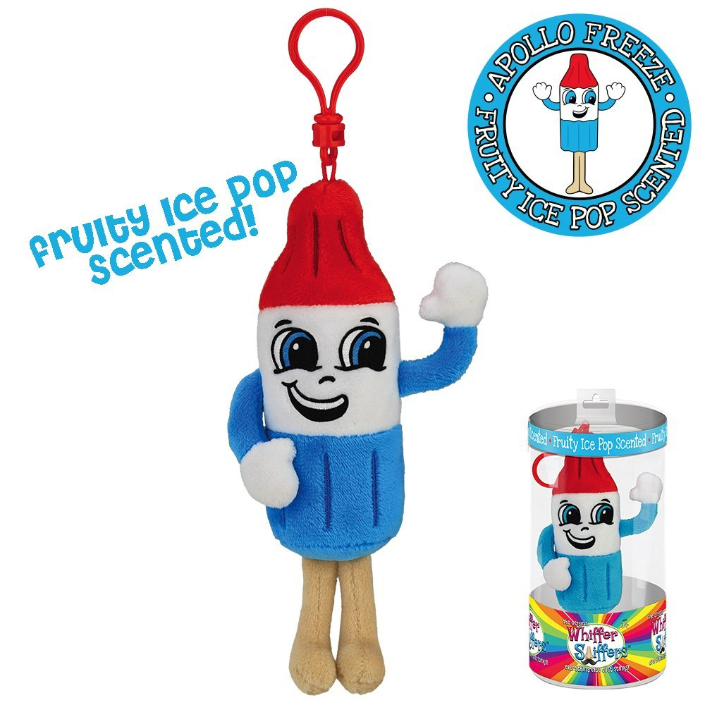 Whiffer Sniffers Apollo Freeze Fruity Ice Pop Scented Backpack Clip