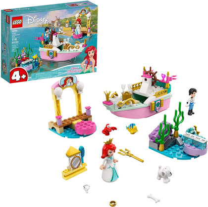 LEGO Disney 43191 Ariel's Celebration Boat, New 2021 (114 Pieces)
