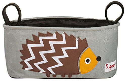 3 Sprouts Stroller Organizer, Hedgehog, Brown