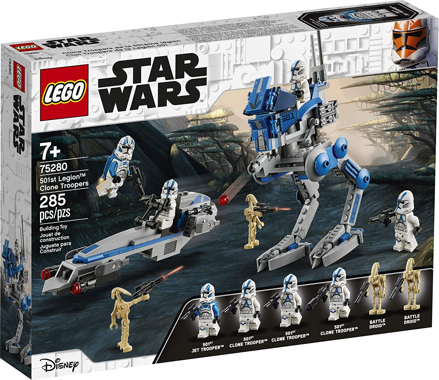 LEGO Star Wars 501st Legion Clone Troopers 75280 Building Kit, New 2020 (285 Pieces)