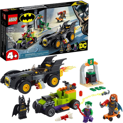 LEGO DC Batman: Batman vs. The Joker: Batmobile Chase 76180, New 2021 (136 Pieces)