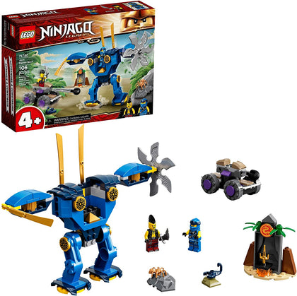 LEGO NINJAGO Legacy Jay's Electro Mech 71740 Ninja Toy Building Kit, New 2021 (106 Pieces)