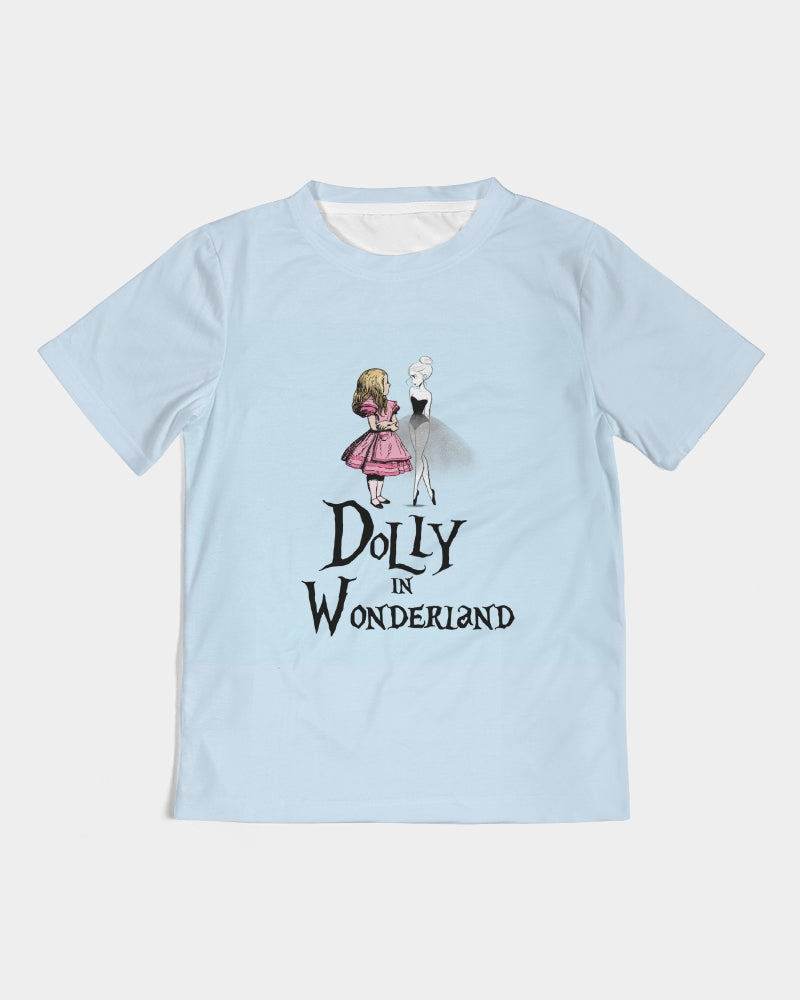 DOLLY MEETING ALICE LIGHT BLUE Kids Tee