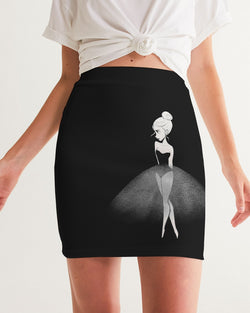 DOLLY DOODLING Ballerina Black Women's Mini Skirt