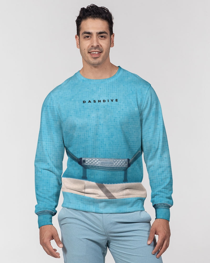 DASH DIVE Men's Classic French Terry Crewneck Pullover