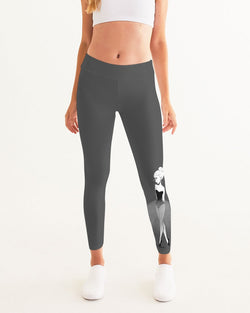 DOLLY DOODLING Ballerina Dark Grey Women's Yoga Pants