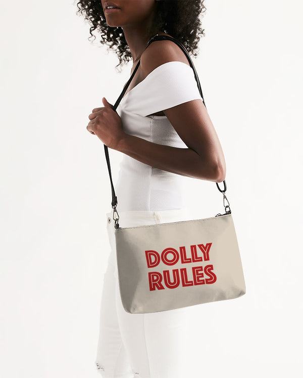 I'M DOLLY & DOLLY RULES KHAKI Daily Zip Pouch