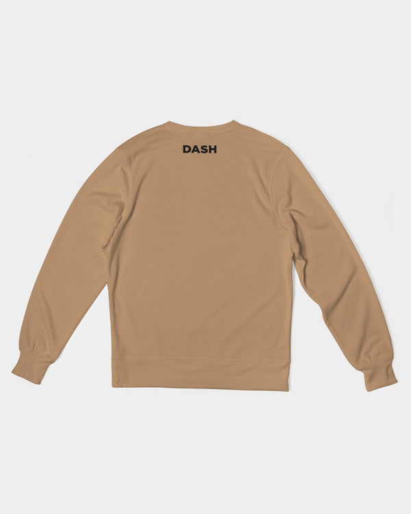 DASH CAPRICORN SKULL BROWN Men's Classic French Terry Crewneck Pullover