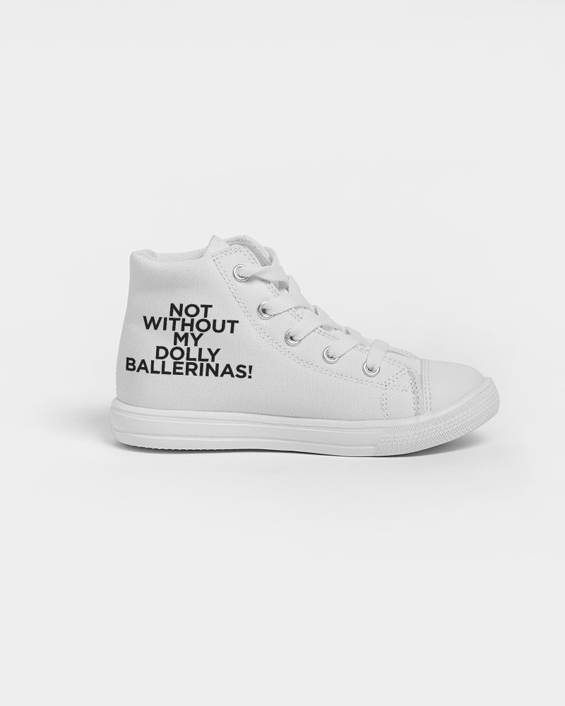 DOLLY BLACK BALLERINAS Kids Hightop Canvas Shoe