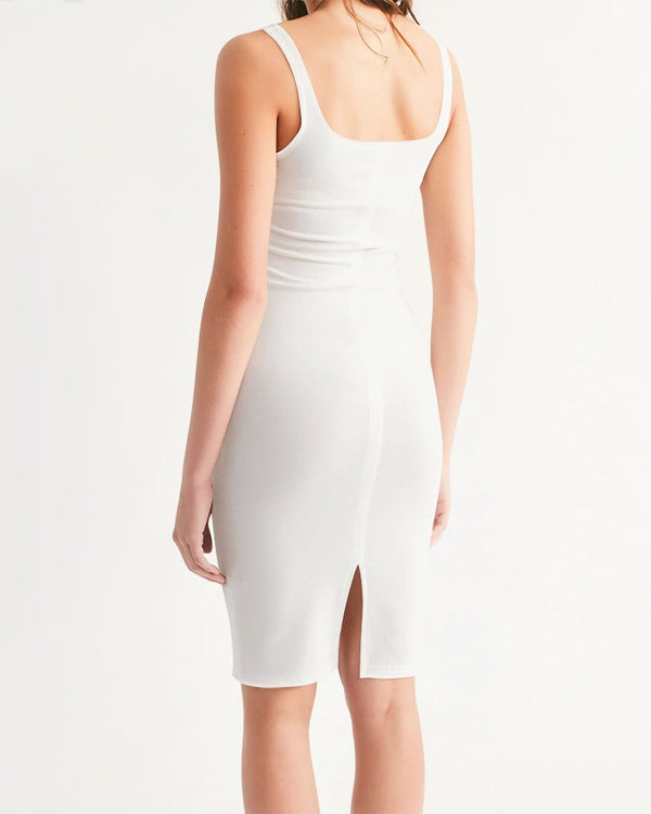 DOLLY WORLD EST. 2004 OFF-WHITE Women's Midi Bodycon Dress