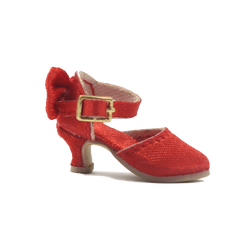ANGELA Doll SATIN HIGH HEEL SHOES red