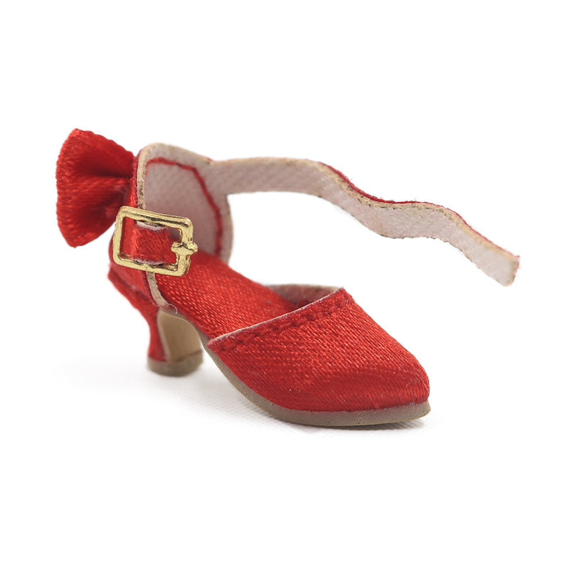 [ OUTLET] ANGELA Doll SATIN HIGH HEEL SHOES red