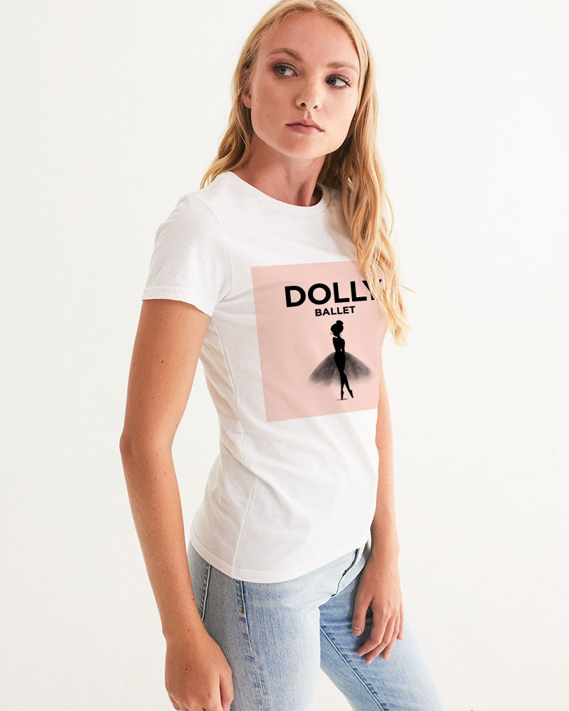 DOLLY WHITE Ballet Pink Women's Graphic Tee