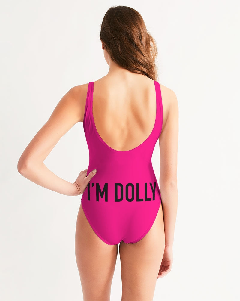 DOLLY DOODLING Ballerina Pure Pink Women's One-Piece Swimsuit
