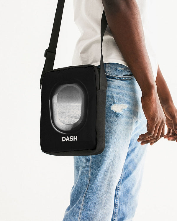 DASH AWAY PLANE WINDOW Messenger Pouch