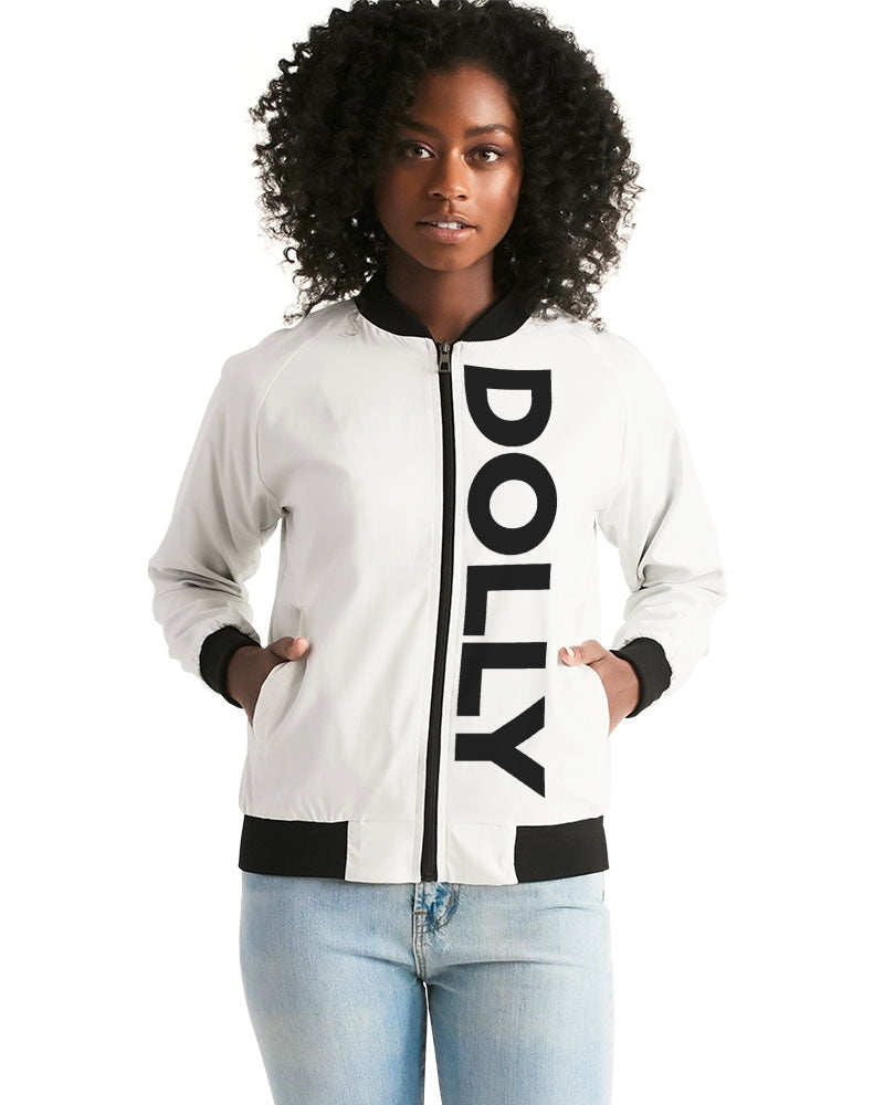 DOLLY LOGO BOLD WHITE Women's Bomber Jacket